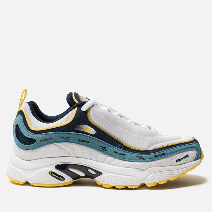 Кроссовки Reebok Daytona DMX Vector White/Collegiate Navy/Mineral Mist/Yellow