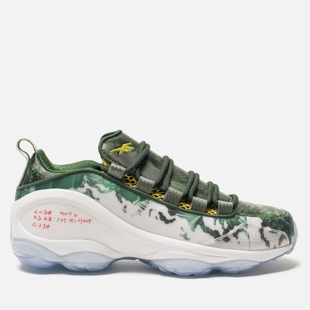 Кроссовки Reebok DMX Run 10 Predator White/Scout Green/Scarlet/Yellow
