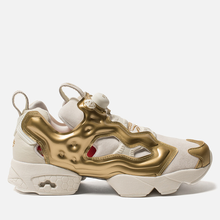 Кроссовки Reebok Instapump Fury OG MU Chalk/Gold Metallic/China Red
