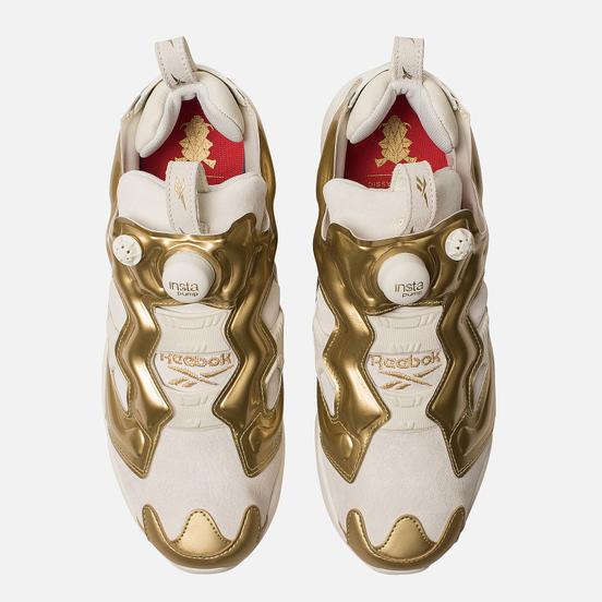 Кроссовки Reebok Instapump Fury OG MU Chalk/Gold Metallic/China Red