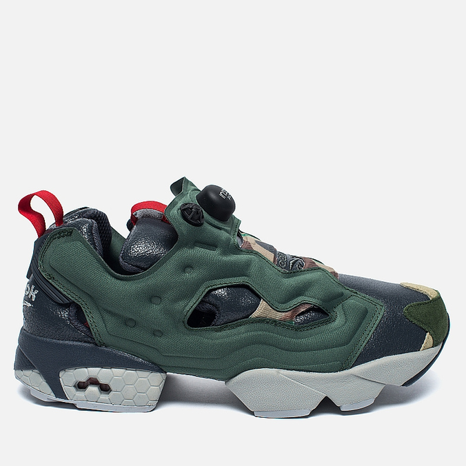 Кроссовки Reebok Instapump Fury OG Villains Black/Primal Green/Baseball Grey/Scarlet/Silver Metallic