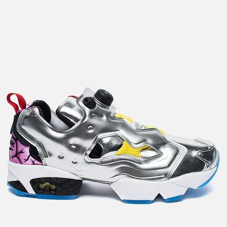 Reebok Instapump Fury OG Villains Sneakers Silver Metallic/Black/Bright Yellow/Scarlet Ice
