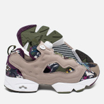 Кроссовки Reebok Instapump Fury Seasonal Graphic Pack Stone/Paper White/Green/Orchid фото- 2