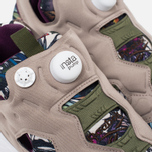 Кроссовки Reebok Instapump Fury Seasonal Graphic Pack Stone/Paper White/Green/Orchid фото- 5