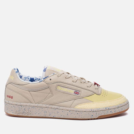 Кроссовки Reebok x Artists For Humanity Club C 85 Stucco/Lemon Squirt/Echo Blue