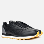 Кроссовки Reebok x Born X Raised CL Leather Black/Grey/Chalk фото- 1