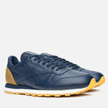 Кроссовки Reebok x Born X Raised CL Leather Navy/Brown/Chalk фото- 1