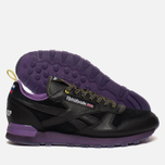 Кроссовки Reebok x Brandshop Classic Leather Black/Baseball Grey фото- 2