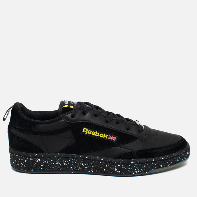 Кроссовки Reebok x Faces&Laces Club C 85 Black/Hero Yellow/Silver/White