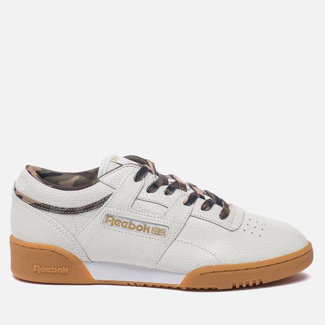 Кроссовки Reebok x Sneaker Politics x Humidity Workout Lo Clean CN White/Black/Camo/Gum