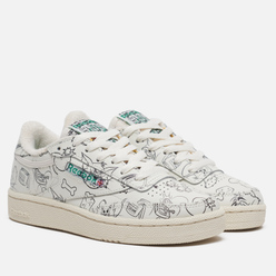 Кроссовки Reebok x Tom & Jerry Club C 85 Chalk/Paper White/Excellent Red