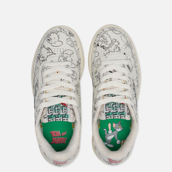 Мужские кроссовки Reebok x Tom & Jerry Club C 85 Chalk/Paper White/Excellent Red