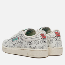 Кроссовки Reebok x Tom & Jerry Club C 85 Chalk/Paper White/Excellent Red фото- 2