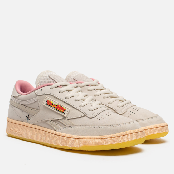 Кроссовки Reebok x Tom & Jerry Club C Chalk/Quiet Pink/Pantone