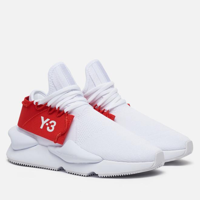 Кроссовки Y-3 Kaiwa Knit White/White/Red