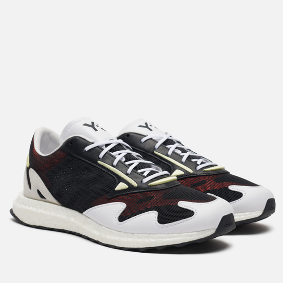 Мужские кроссовки Y-3 Rhisu Run Black/White/Yellow Tint