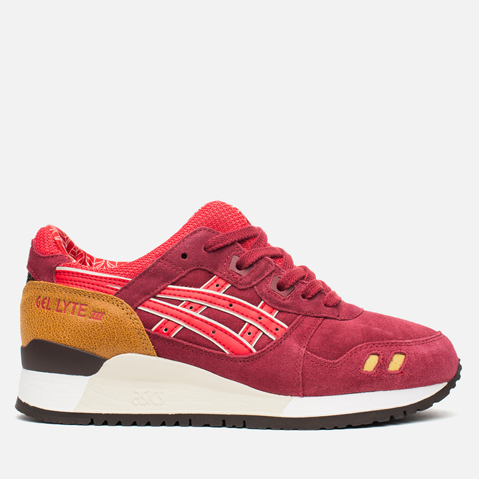 Женские кроссовки ASICS Gel-Lyte III Autumn Brights Pack Burgundy/Fiery Red