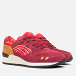 Женские кроссовки ASICS Gel-Lyte III Autumn Brights Pack Burgundy/Fiery Red фото- 1