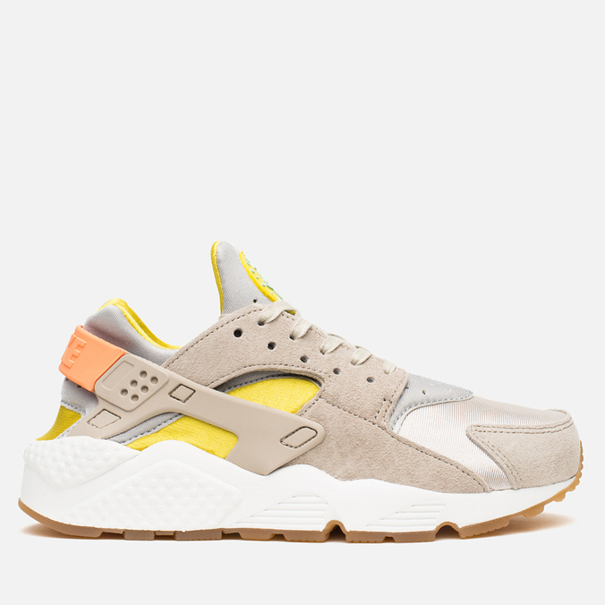 Женские кроссовки Nike Air Huarache Run Premium Metallic Silver/Green/Sunset Glow