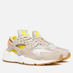 Женские кроссовки Nike Air Huarache Run Premium Metallic Silver/Green/Sunset Glow фото- 1
