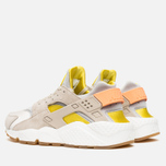 Женские кроссовки Nike Air Huarache Run Premium Metallic Silver/Green/Sunset Glow фото- 2