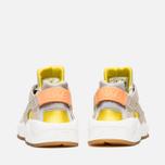 Nike Air Huarache Run Premium Women's Sneakers Metallic Silver/Green/Sunset Glow photo- 3
