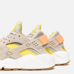 Женские кроссовки Nike Air Huarache Run Premium Metallic Silver/Green/Sunset Glow фото- 5