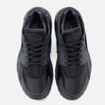 Nike Air Huarache Run Women's Sneakers Triple Black photo- 4
