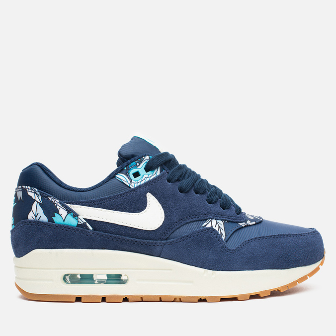 Женские кроссовки Nike Air Max 1 Print Aloha Pack Midnight Navy/Sail/Tide Pool Blue