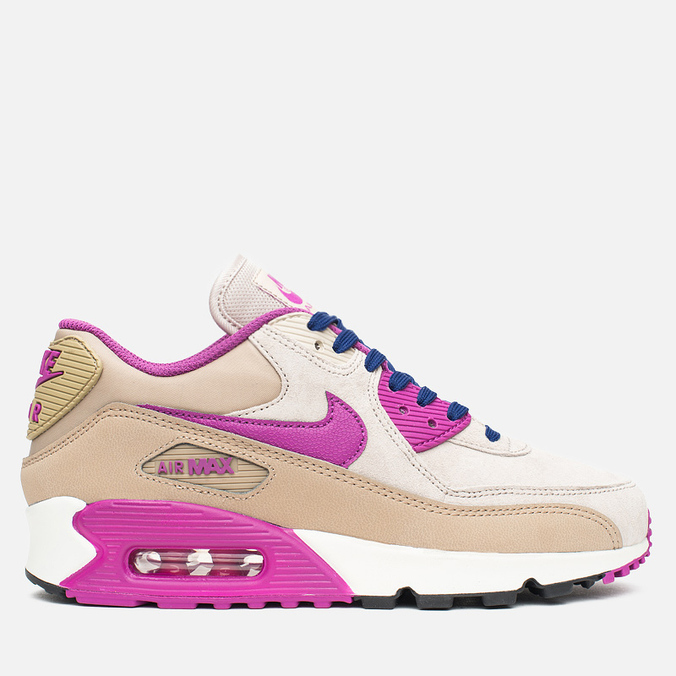 Женские кроссовки Nike Air Max 90 Leather Desert/Purple