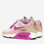 Женские кроссовки Nike Air Max 90 Leather Desert/Purple фото- 2