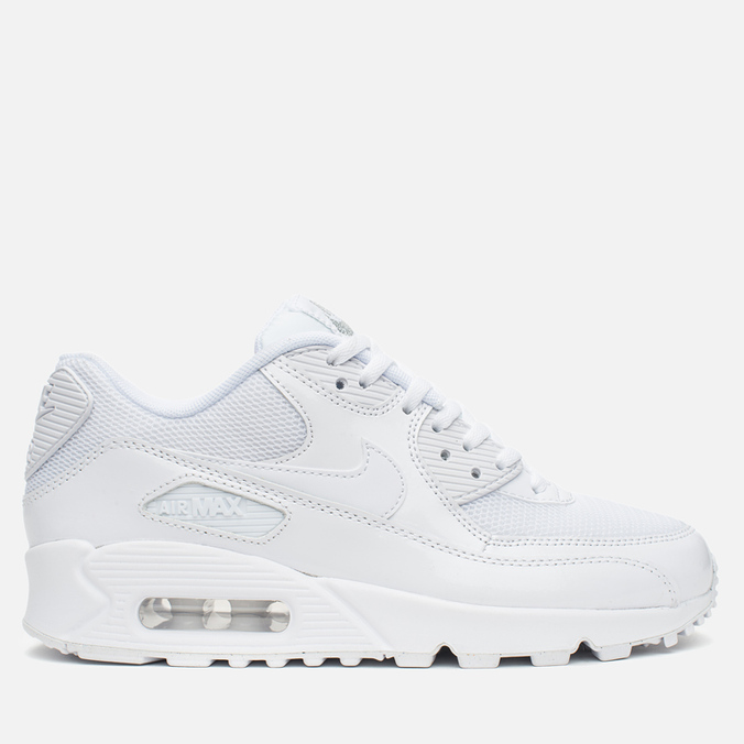Женские кроссовки Nike Air Max 90 Premium White/Metallic Silver