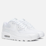Женские кроссовки Nike Air Max 90 Premium White/Metallic Silver фото- 1