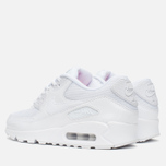 Женские кроссовки Nike Air Max 90 Premium White/Metallic Silver фото- 2