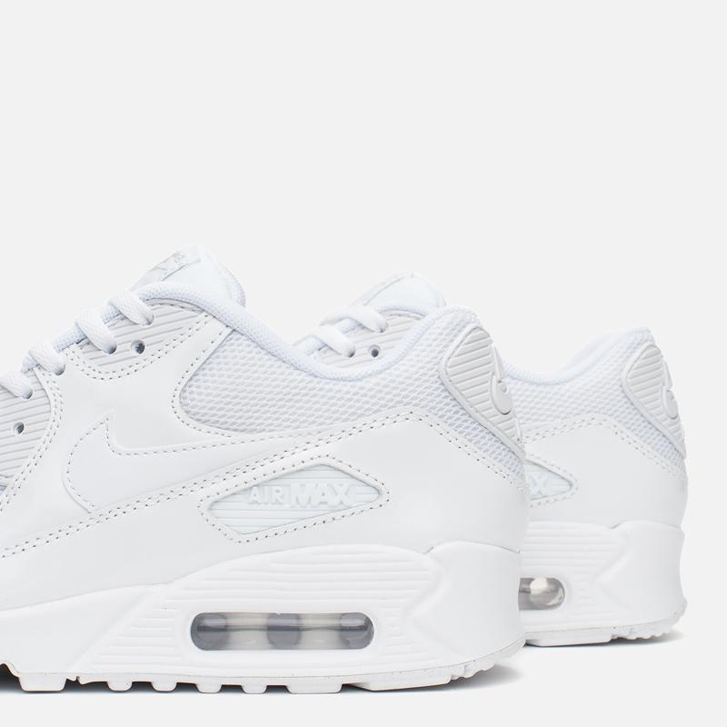 5641b59820e2 Женские кроссовки Nike Air Max 90 Premium White Metallic