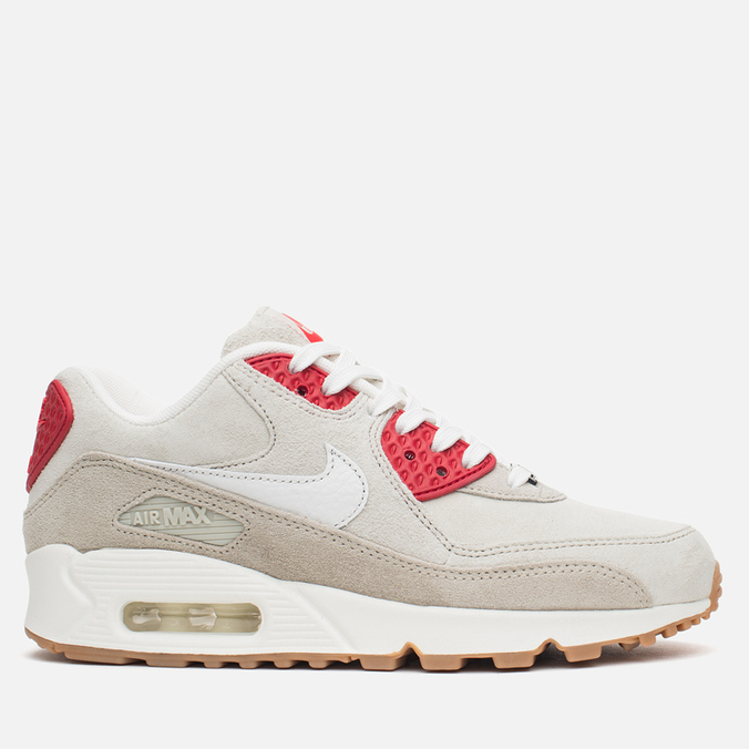 Женские кроссовки Nike Air Max 90 QS City Pack New York Strawberry Cheesecake Beige/Red