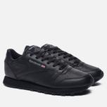 Женские кроссовки Reebok Classic Leather Black фото- 1