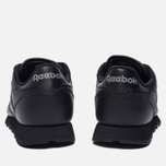 Женские кроссовки Reebok Classic Leather Black фото- 3