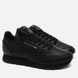 Reebok Classic Leather Women's Sneakers Black photo- 1