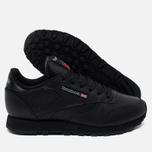 Reebok Classic Leather Women's Sneakers Black photo- 2