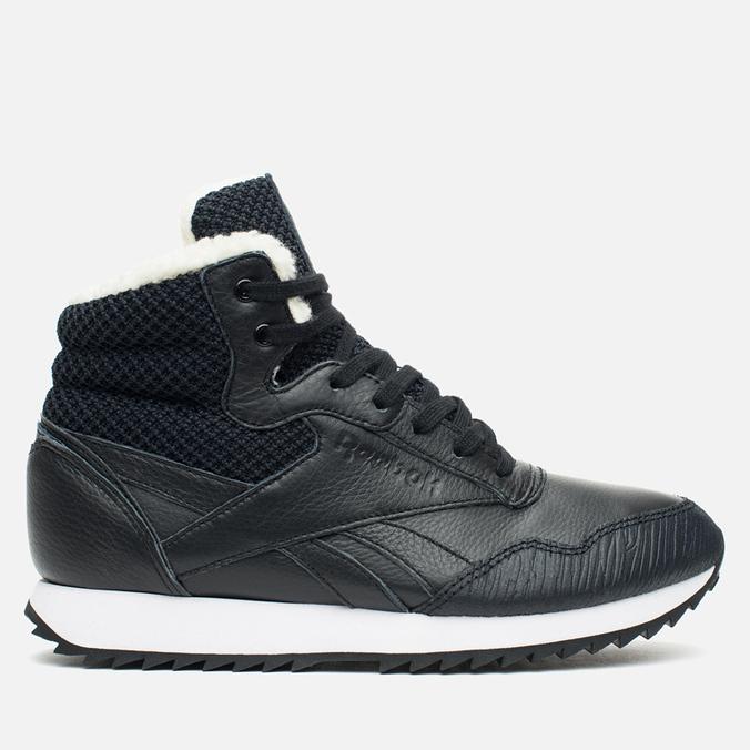 Reebok Rockeasy Ripple Knit Women's Winter Sneakers Black/White