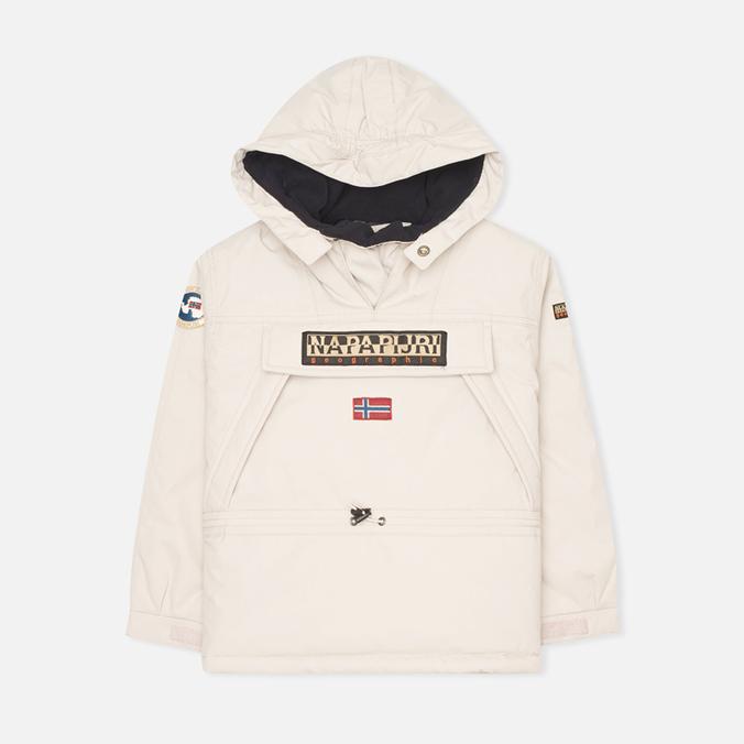 Детская куртка анорак Napapijri Skidoo A Pearl Grey