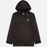 Мужская куртка анорак Stussy Ripstop Pullover Black фото- 0