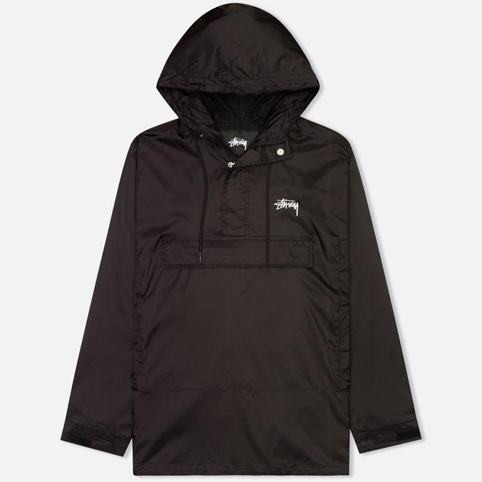 Stussy Ripstop Pullover Men's Anorak Black