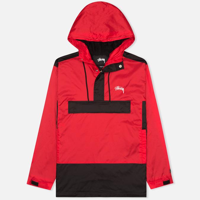 Мужская куртка анорак Stussy Ripstop Pullover Red