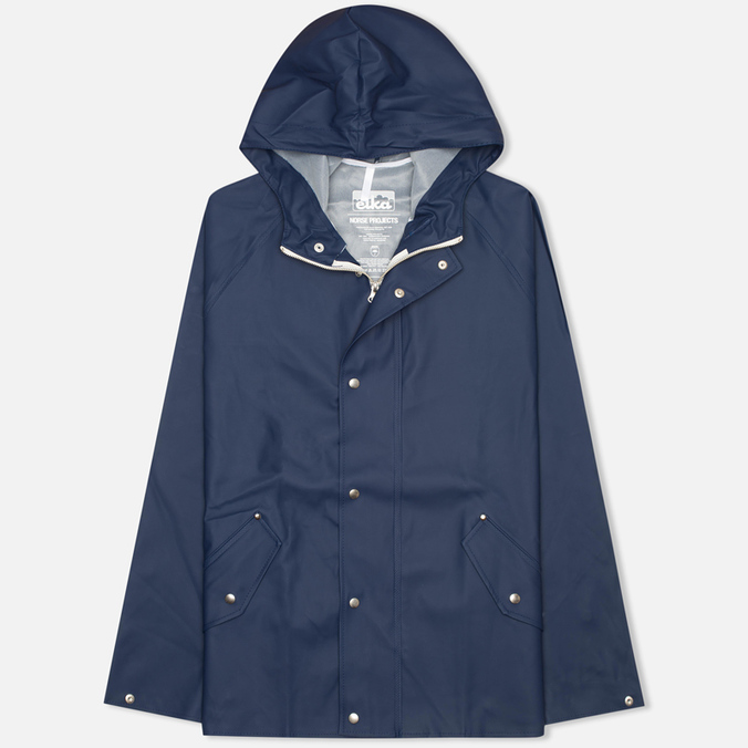 Мужская куртка дождевик Norse Projects x Elka Anker Dark Navy