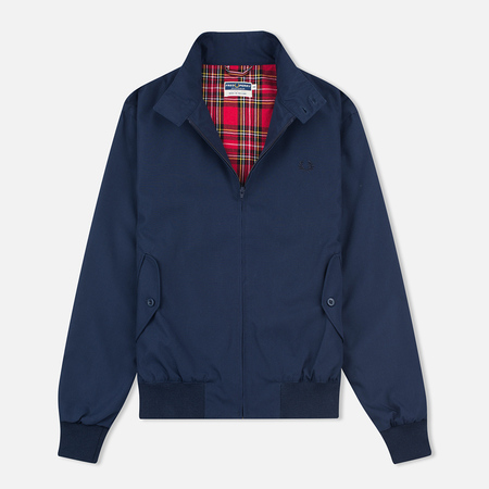 Fred Perry Laurel Made in England Men's Harrington Jacket Navy/Ice