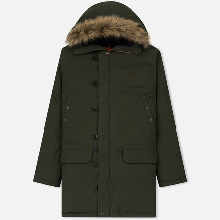 Мужская куртка парка Fred Perry Down Snorkel Hunting Green
