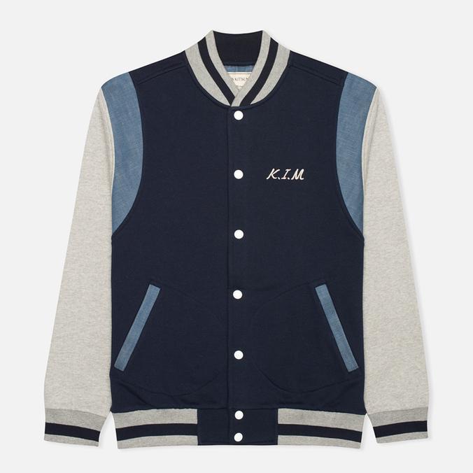 Мужская куртка бомбер Maison Kitsune Teddy Navy/Grey