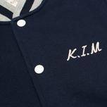 Мужская куртка бомбер Maison Kitsune Teddy Navy/Grey фото- 3